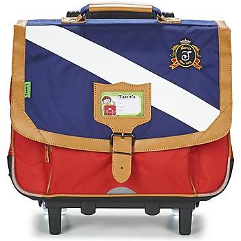 Bags Boy Rucksacks / Trolley bags Tann's LES BONS ENFANTS POLO TROLLEY CARTABLE 38CM Blue / Red