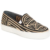 Shoes Women Slip ons Robert Clergerie  Black / Beige