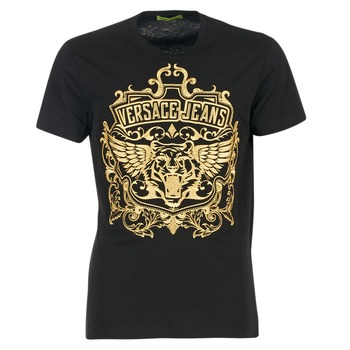 material Men short-sleeved t-shirts Versace Jeans B3GQB7T2 Black / GOLD