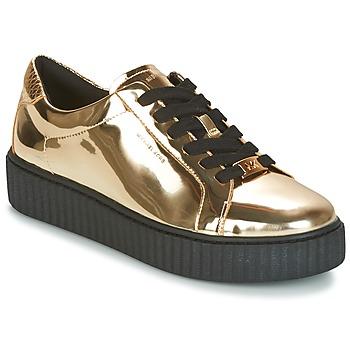 Shoes Women Low top trainers MICHAEL Michael Kors TRAVOR LACE UP Gold