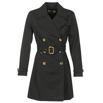 material Women Trench coats MICHAEL Michael Kors PLEATED TRENCH Black
