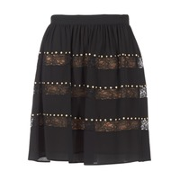 material Women Skirts MICHAEL Michael Kors HT/ LACE MIX Black