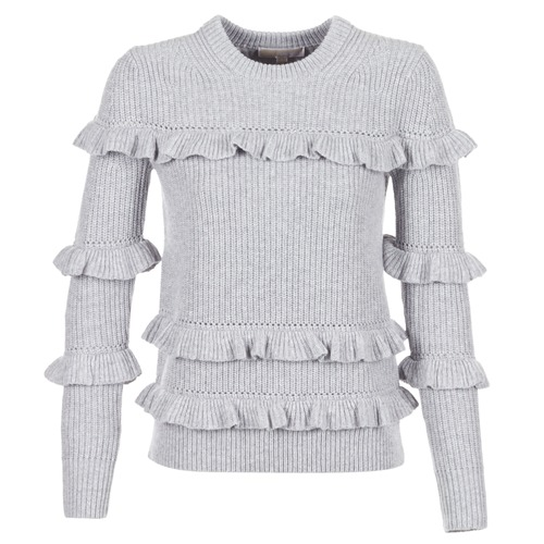 material Women jumpers MICHAEL Michael Kors RIB RUFFLE Grey