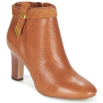 Shoes Women Ankle boots Ralph Lauren BRIN Cognac