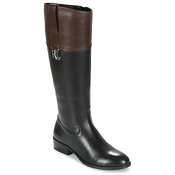 Shoes Women Boots Ralph Lauren MERRIE Black / Brown