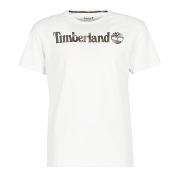 material Men short-sleeved t-shirts Timberland DUNSTAN RIVER CAMO PRINT White