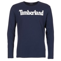 material Men Long sleeved shirts Timberland LINEAR LOGO PRINT RINGER MARINE