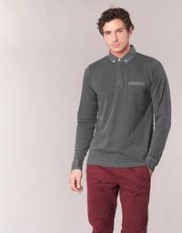 material Men long-sleeved polo shirts Serge Blanco POCHA Black / Grey