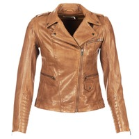 material Women Leather jackets / Imitation leather Naf Naf CUBA Brown