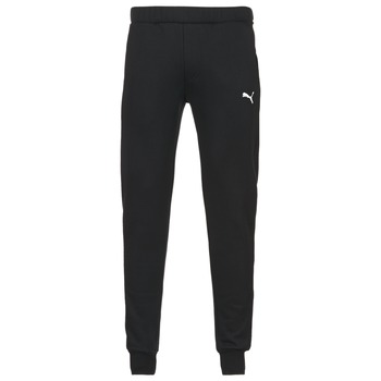material Men Tracksuit bottoms Puma SWEAT PANTS SLIM FL Black