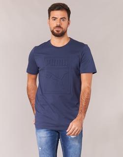 material Men short-sleeved t-shirts Puma ARCHIVE EMBOSSED LOGO TEE Marine