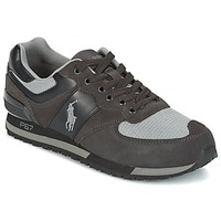 Shoes Men Low top trainers Ralph Lauren SLATON PONY Black / Grey