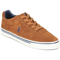 Shoes Men Low top trainers Ralph Lauren HANFORD Cognac