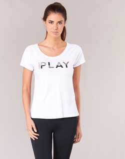 material Women short-sleeved t-shirts Only Play LINDA White