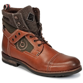 Shoes Men Mid boots Bugatti MATINE COGNAC