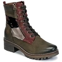 Shoes Women Mid boots Bugatti POUDRA Kaki / Bordeaux