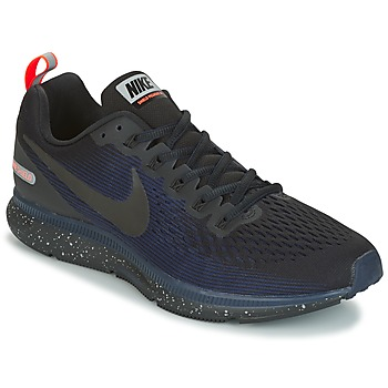 Shoes Men Running shoes Nike AIR ZOOM PEGASUS 34 SHIELD Black / Blue