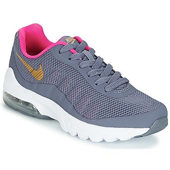 Shoes Girl Low top trainers Nike AIR MAX INVIGOR GRADE SCHOOL Blue / Pink