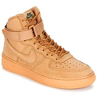 Shoes Children High top trainers Nike AIR FORCE 1 HIGH WB GRADE SCHOOL Honey