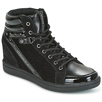 Shoes Women High top trainers Versace Jeans  Black