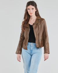 material Women Leather jackets / Imitation leather Oakwood VIDEO Cognac