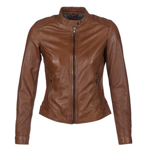 material Women Leather jackets / Imitation leather Oakwood 62578 Camel