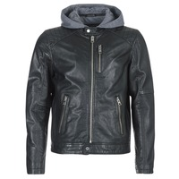material Men Leather jackets / Imitation leather Oakwood 62579 Black