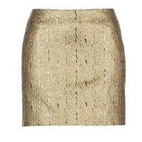 material Women Skirts See U Soon FASOU Gold