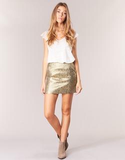 material Women Skirts See U Soon FASOU Gold