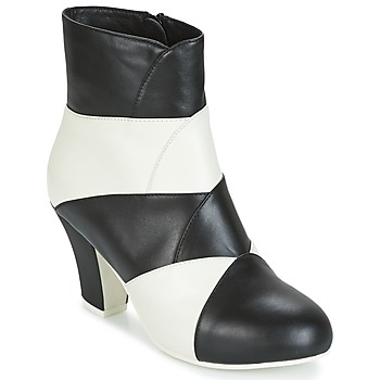 Shoes Women Ankle boots Lola Ramona ELSA White / Black