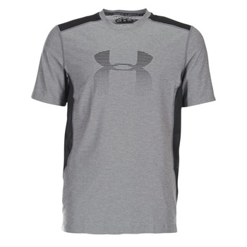 material Men short-sleeved t-shirts Under Armour UA RAID GRAPHIC SS Grey / Black
