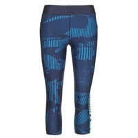 material Women leggings Under Armour UA HG ARMOUR GRAPHIC CAPRI Blue
