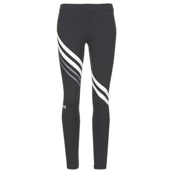 material Women leggings Under Armour FAVORITE LEGGING ENGINEERED Black / White