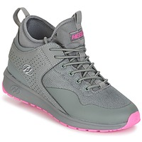 Shoes Girl Wheeled shoes Heelys PIPER Grey / Pink