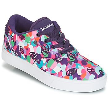Shoes Girl Wheeled shoes Heelys LAUNCH Violet / Multicolour
