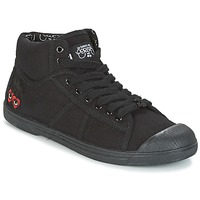 Shoes Women High top trainers Le Temps des Cerises BASIC 03 Black