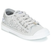 Shoes Girl Low top trainers Le Temps des Cerises BROOK Silver