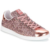 Shoes Women Low top trainers Victoria DEPORTIVO BASKET GLITTER Pink