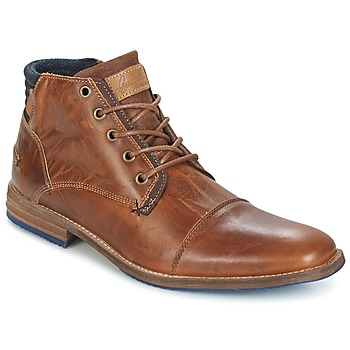 Shoes Men Mid boots Bullboxer MESSI COGNAC