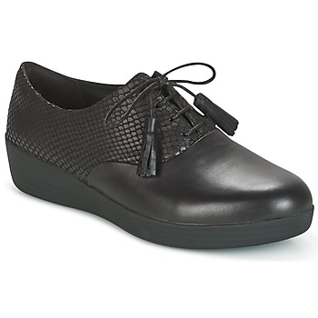 Shoes Women Derby shoes FitFlop CLASSIC TASSEL SUPEROXFORD Black / Serpent