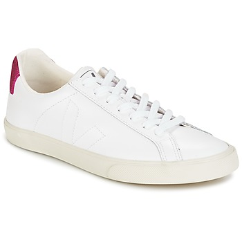 Shoes Women Low top trainers Veja ESPLAR LT White / Glitter / Magenta