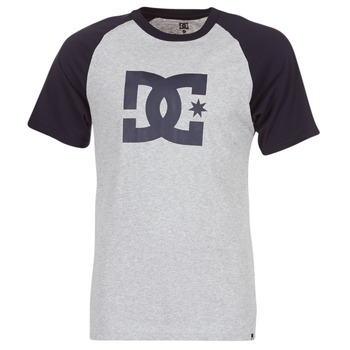 material Men short-sleeved t-shirts DC Shoes STAR RAGLAN SS Black / Grey