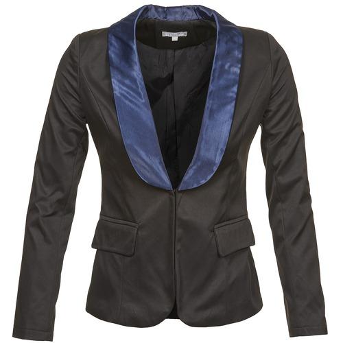 material Women Jackets / Blazers Betty London BERTHILLE Black / Marine