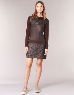 material Women Short Dresses Smash NANCY Brown