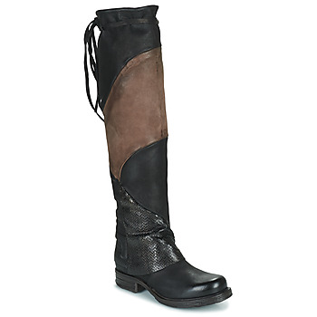 Shoes Women High boots Airstep / A.S.98 SAINT EC PATCH Black