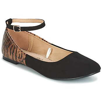 Shoes Women Ballerinas Moony Mood GLIMY Black
