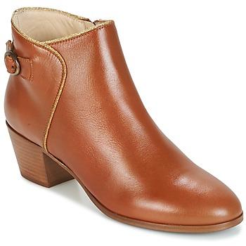 Shoes Women Ankle boots M. Moustache ELEONORE.M COGNAC / Gold