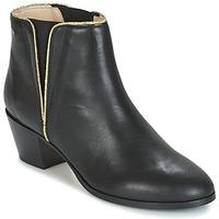 Shoes Women Ankle boots M. Moustache JEANNE.M Black / Gold