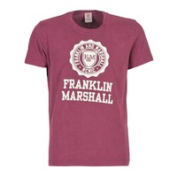 material Men short-sleeved t-shirts Franklin & Marshall GRAVI Bordeaux