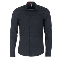material Men long-sleeved shirts Benetton MERLO Black